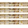 Miyuki Tila Bead 5X5mm 2 Hole Light Topaz with brown Picasso Transparent